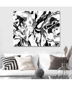 Obraz na płótnie Grafika Czarno białe kwiaty, abstrakcja kwiaty
