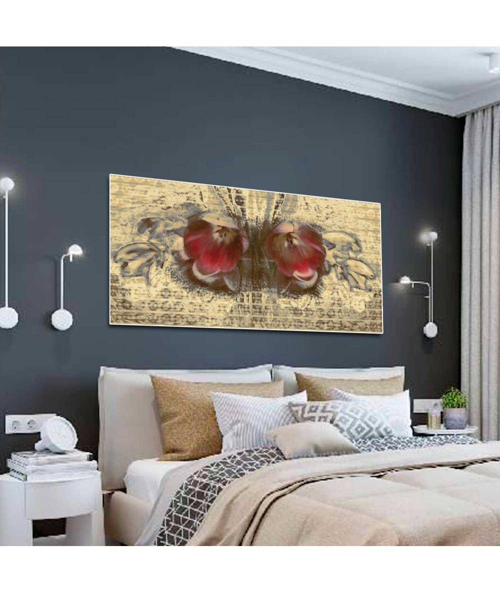 Nowoczesny obraz wąski Wiosenny motyl (1-częściowy)