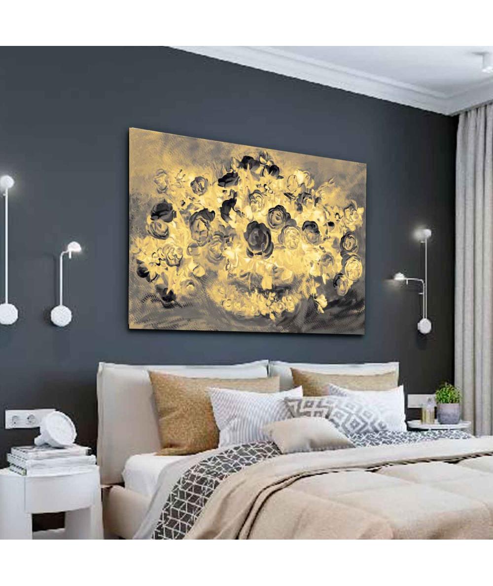 obrazy kwiaty Obraz retro Róże złote, obrazy na płótnie