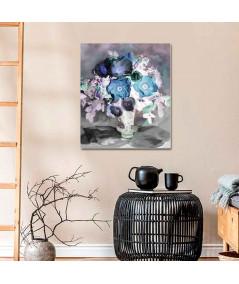 Obrazy kwiaty - Obraz na płótnie Anemony i róże (1-częściowy) pionowy