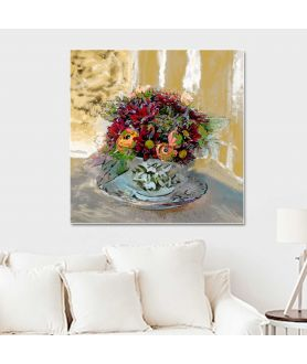 Obrazy kwiaty - Obraz styl prowansalski Filiżanka z kwiatami