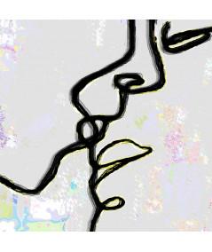 Obrazy pocałunek - Obraz grafika do sypialni Zakochani są wśród nas