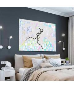 Obraz grafika do sypialni Zakochani są wśród nas