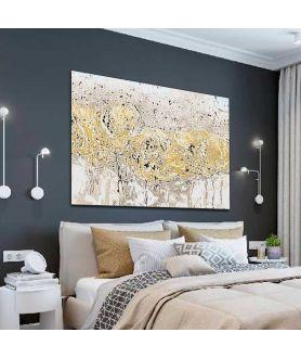 Obraz na płótnie Obraz kwiaty polne Wiosenna abstrakcja (1-częściowy) szeroki