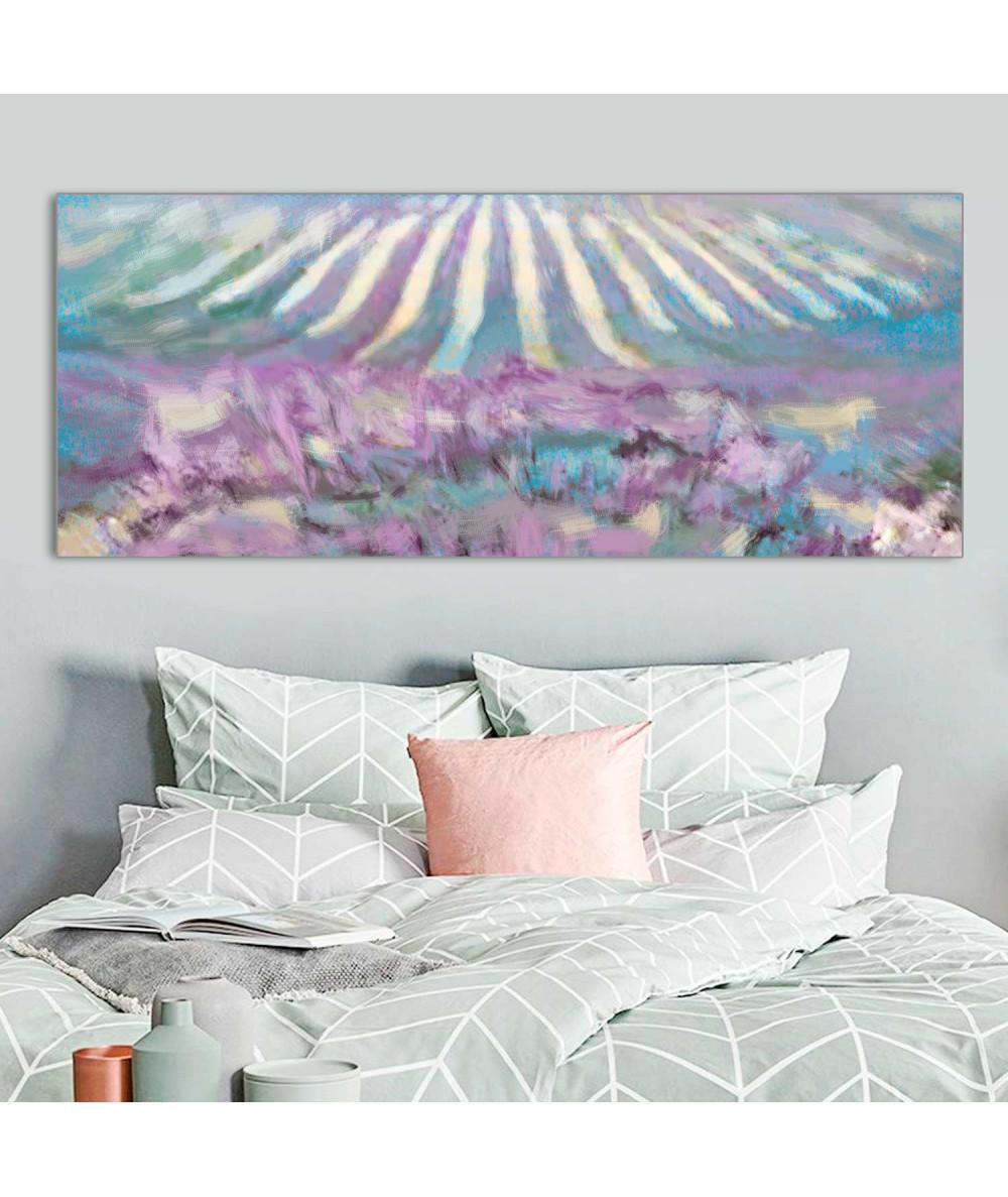 Panoramy - Obrazy do sypialni Pole lawendy panorama
