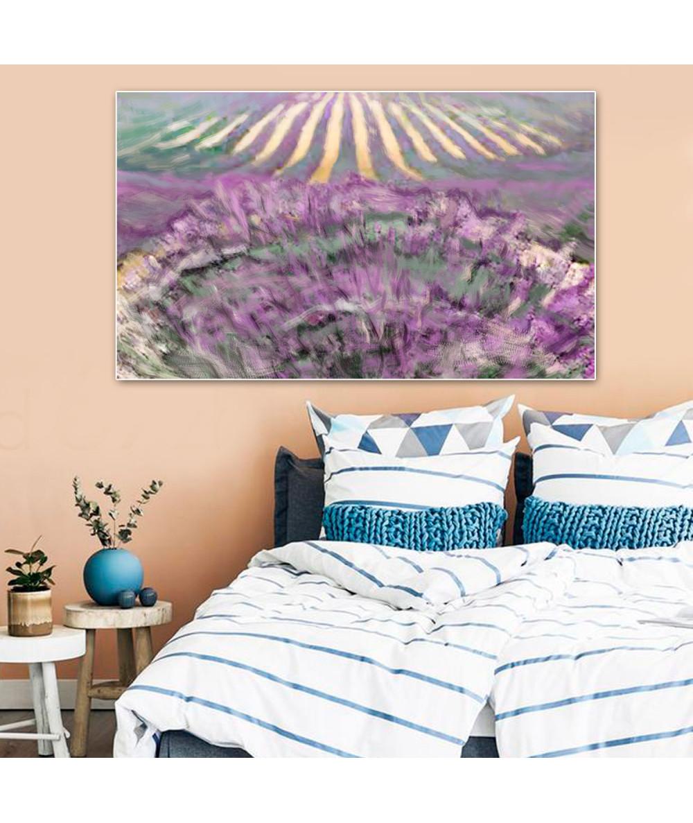 Grafiki obrazy plakaty - Obraz na ścianę Pole lawendy (1-częściowy) szeroki