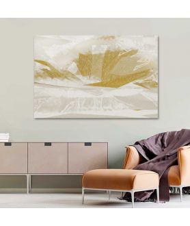 Obraz na płótnie Obraz na płótnie Złoty kwiat (1-częściowy) szeroki