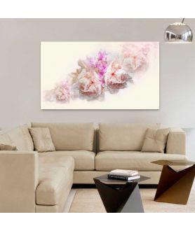 Obrazy kwiaty - Piwonie akwarela Akwarela różowe piwonie