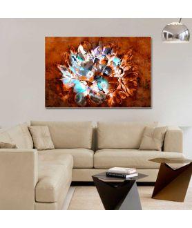 Obraz na płótnie Magnolie na brązowym tle, obraz bukiet kwiatów