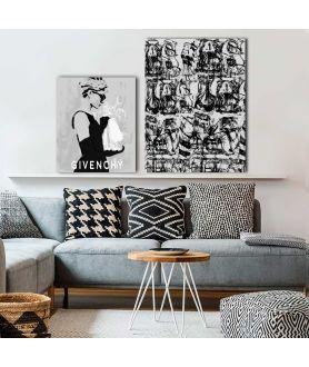 Grafika czarne szpilki, minimalistyczne grafiki