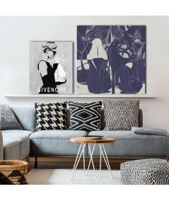 Obrazy buty szpilki - Obrazy z butami Granatowe szpilki, grafika fashion