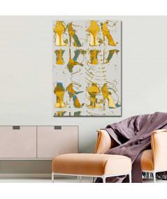 Obraz na płótnie Grafika moda Żółte buty szpilki, grafika nowoczesna