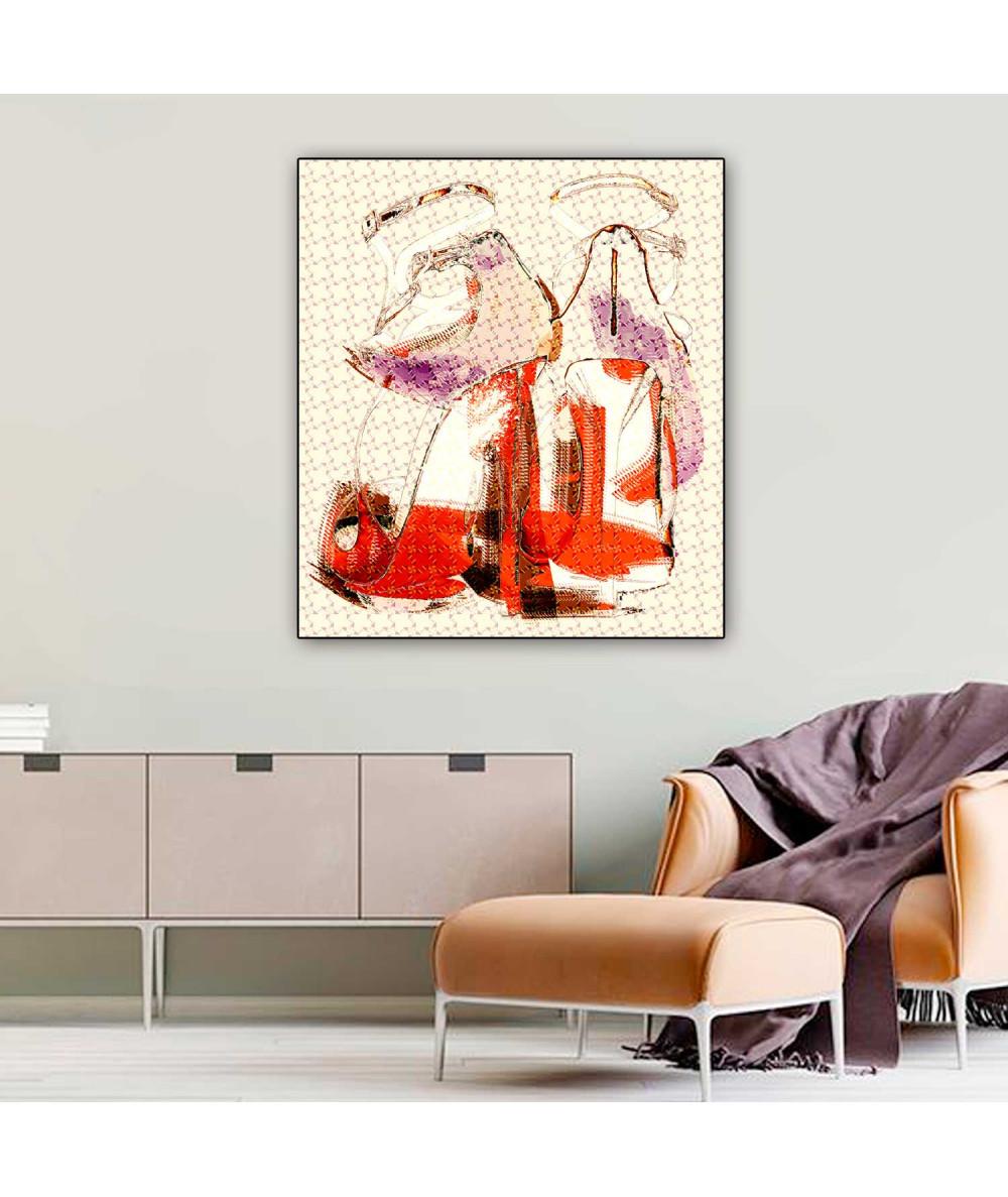 Plakaty nowoczesne Ognista kobieta, plakat z butami