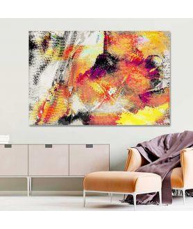 Obraz abstrakcja Ogień i ziemia (1-częściowy) szeroki