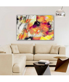 Obraz na płótnie Obraz abstrakcja Ogień i ziemia (1-częściowy) szeroki