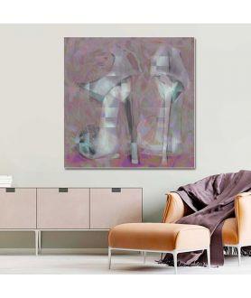 Obrazy na płótnie Szpilki lawenda, obraz moda