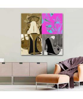 Obraz na płótnie Fashion obrazy nowoczesne na płótnie Modny design