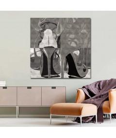 Obrazy buty szpilki - Obraz nowoczesny Geometria stylu (1-częściowy) kwadrat