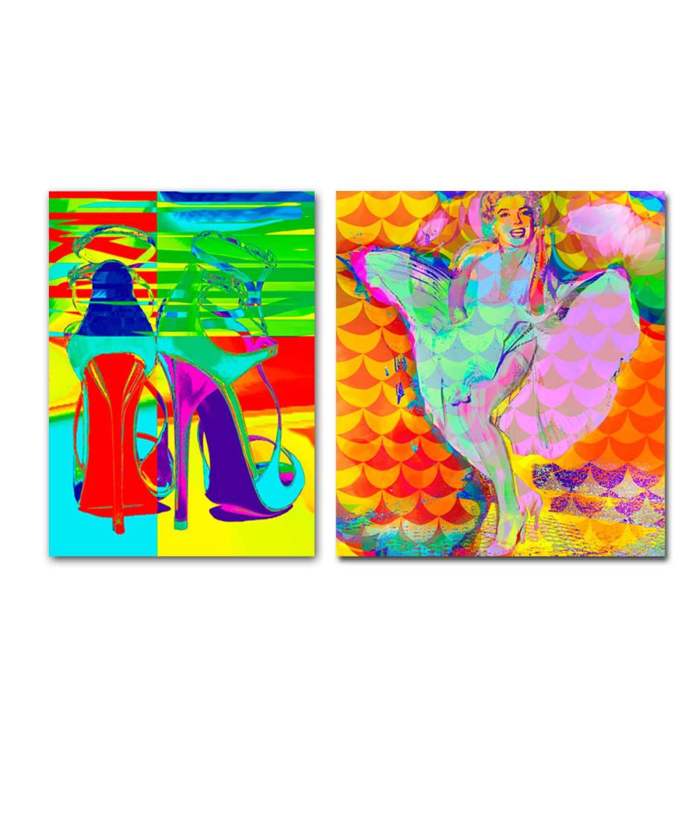 Obraz nowoczesny Moda pop art (2-częściowy) 170x100cm