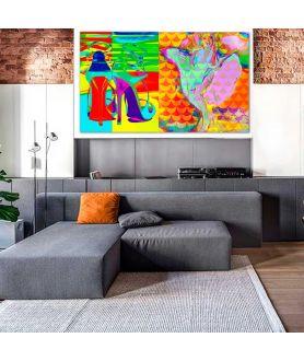 Obraz na płótnie Obraz nowoczesny Moda pop art (2-częściowy) 170x100cm