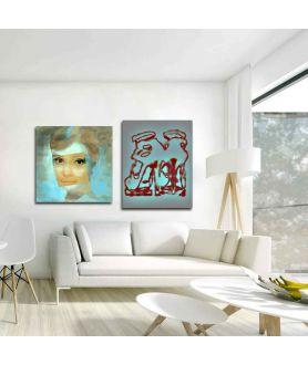 Obraz nowoczesny Neon (1-częściowy) pionowy