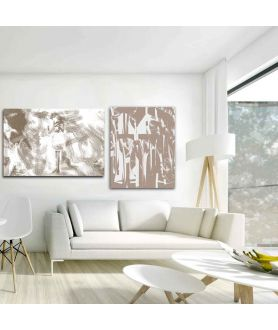 Obraz na płótnie Obraz nowoczesny Beżowy styl (1-częściowy) pionowy