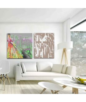 Obraz nowoczesny Beżowy styl (1-częściowy) pionowy