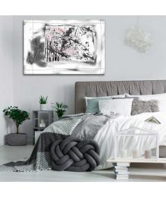 Obraz abstrakcyjny czarno biały Ogród (1-częściowy) szeroki