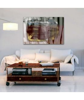 Obrazy abstrakcyjne - Obraz abstrakcja do salonu Majowe pole (1-częściowy) szeroki