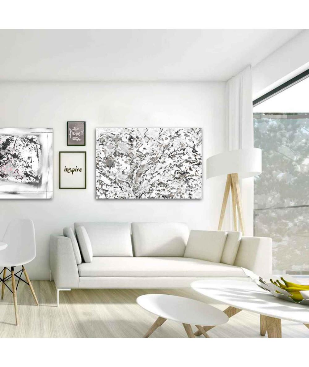Obrazy czarno białe - Nowoczesny obraz na ścianę Czarno białe miasteczko