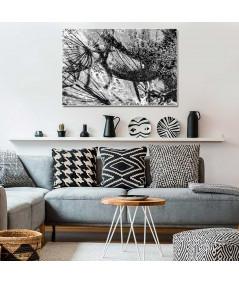 Obraz na płótnie Obraz czarno biały Kraina dmuchawców (1-częściowy) szeroki