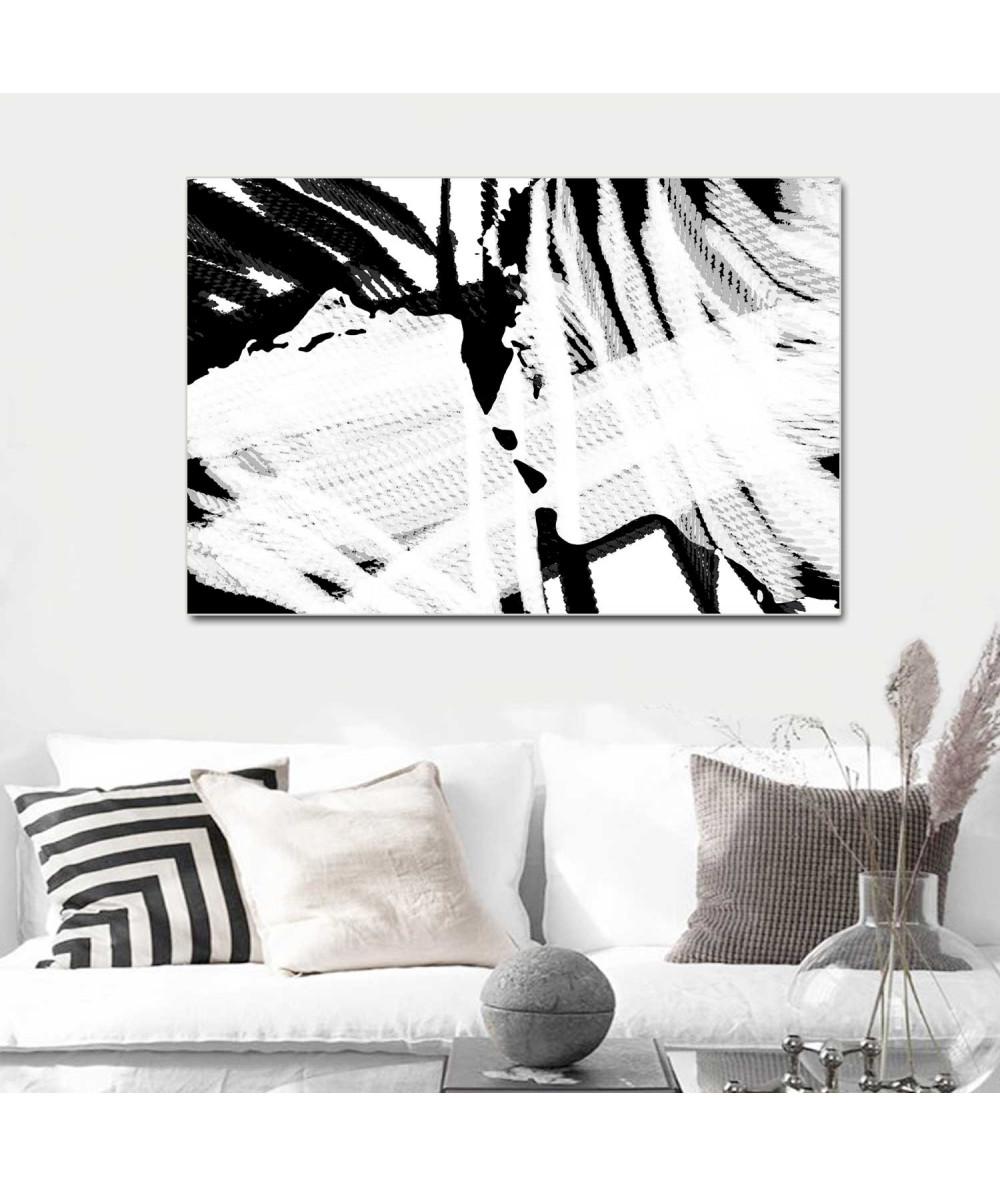 Obrazy pocałunek Obraz grafika nowoczesna Czarno biała miłość