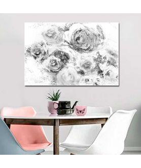 obrazy kwiaty Obraz na ścianę Róże czarno białe, minimalistyczna grafika