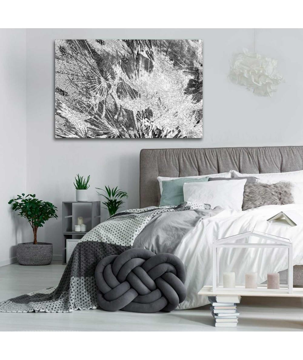 Obrazy dmuchawce - Obraz na ścianę Szare dmuchawce (1-częściowy) szeroki