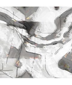 Nowoczesny obraz na ścianę Czarno białe miasteczko