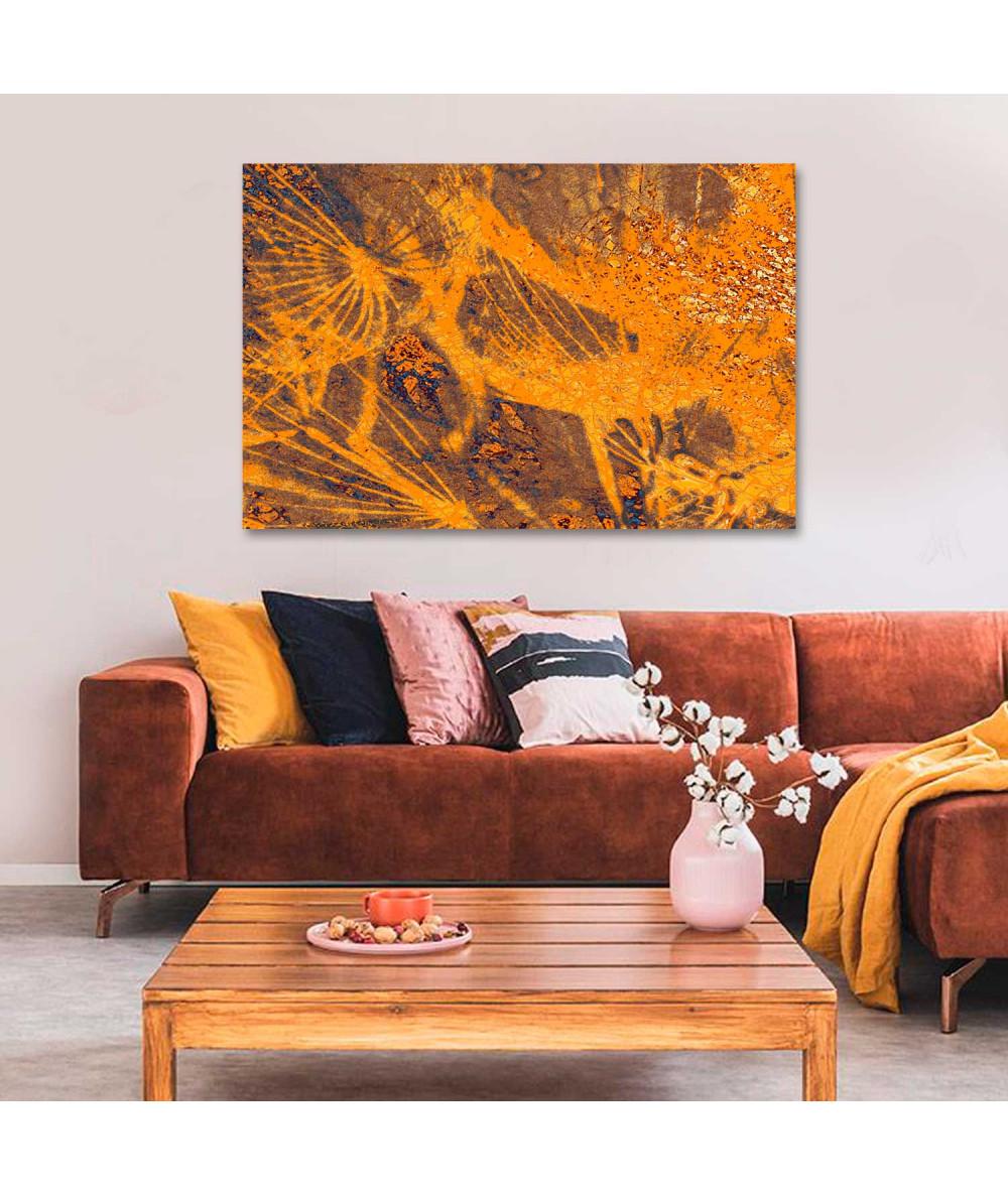 Obraz Pomarańczowe dmuchawce (1-częściowy) szeroki