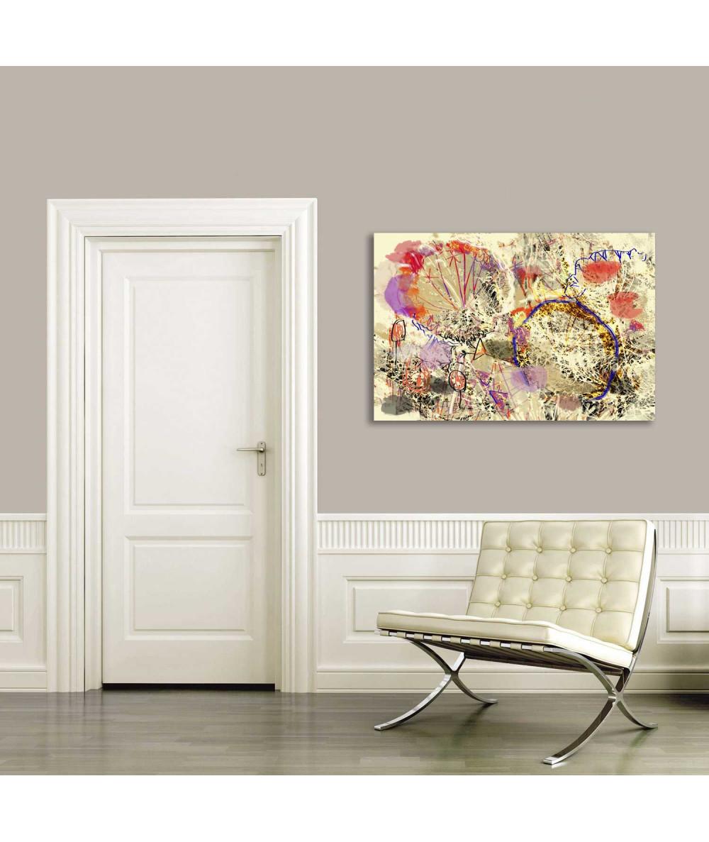 Obraz Dmuchawce abstrakcja (1-częściowy) szeroki