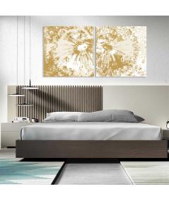 Obraz Kwiaty dmuchawców (2-częściowy) szeroki