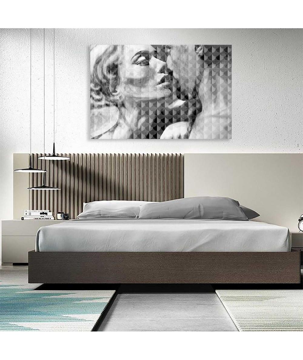 Obrazy czarno białe Obraz miłosny Miłość wersja czarno biała