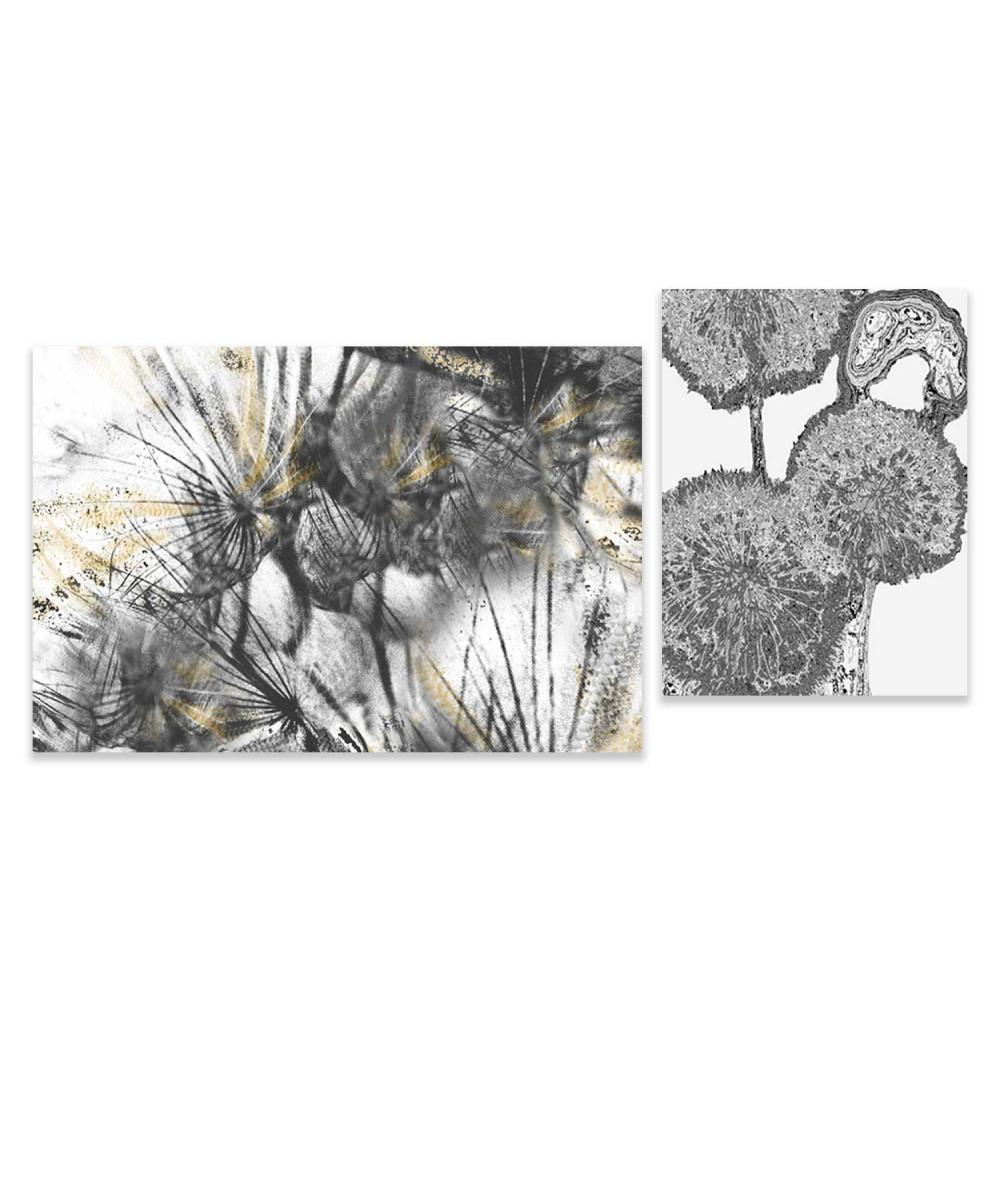 Obraz na płótnie Zestaw obrazów Dmuchawce i kule (2-częściowy)