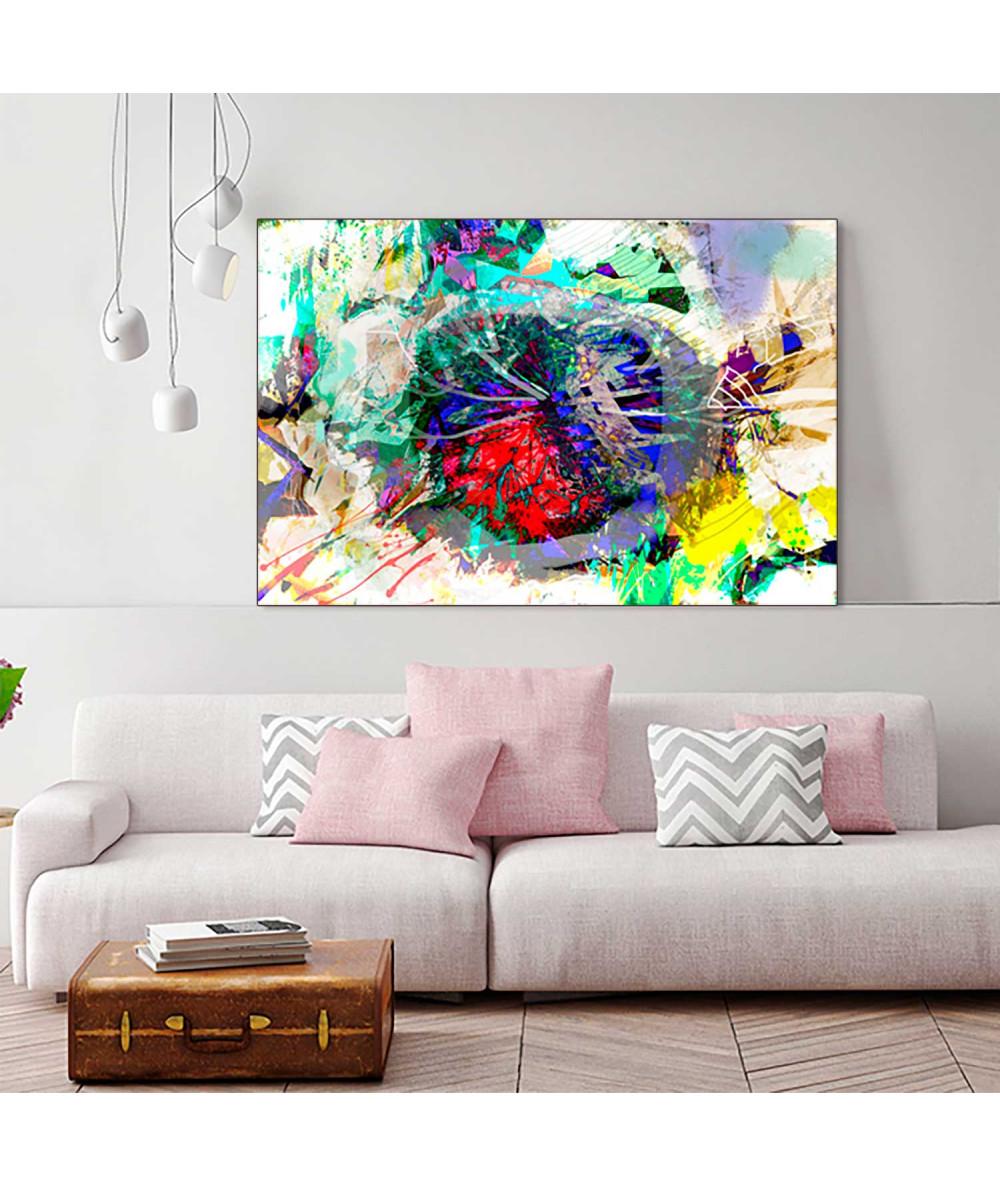 Obrazy abstrakcyjne - Plakat obraz Nowoczesne dmuchawce (1-częściowy) szeroki