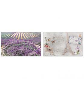 obrazy kwiaty Obraz Dyptyk prowansalski (2-częściowy) długi