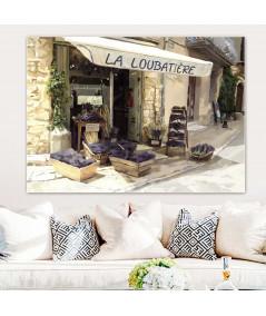 Malownicza uliczka obraz Prowansja kwiaciarnia z lawendą