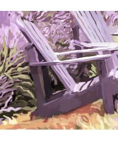 Obraz prowansalski z lawendą Pola lawendy