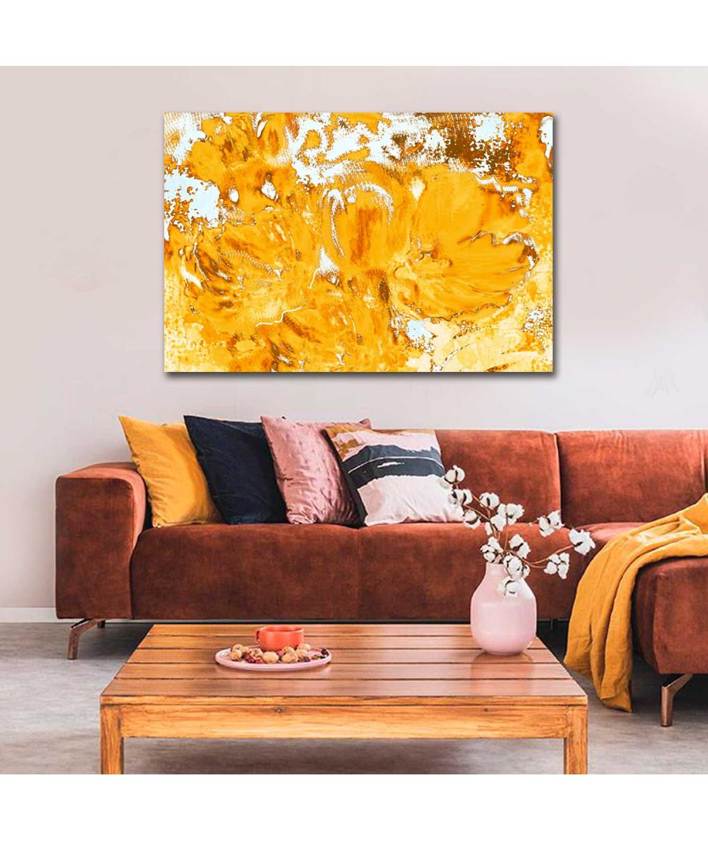 Obraz plakat Żółte tulipany (1-częściowy) szeroki