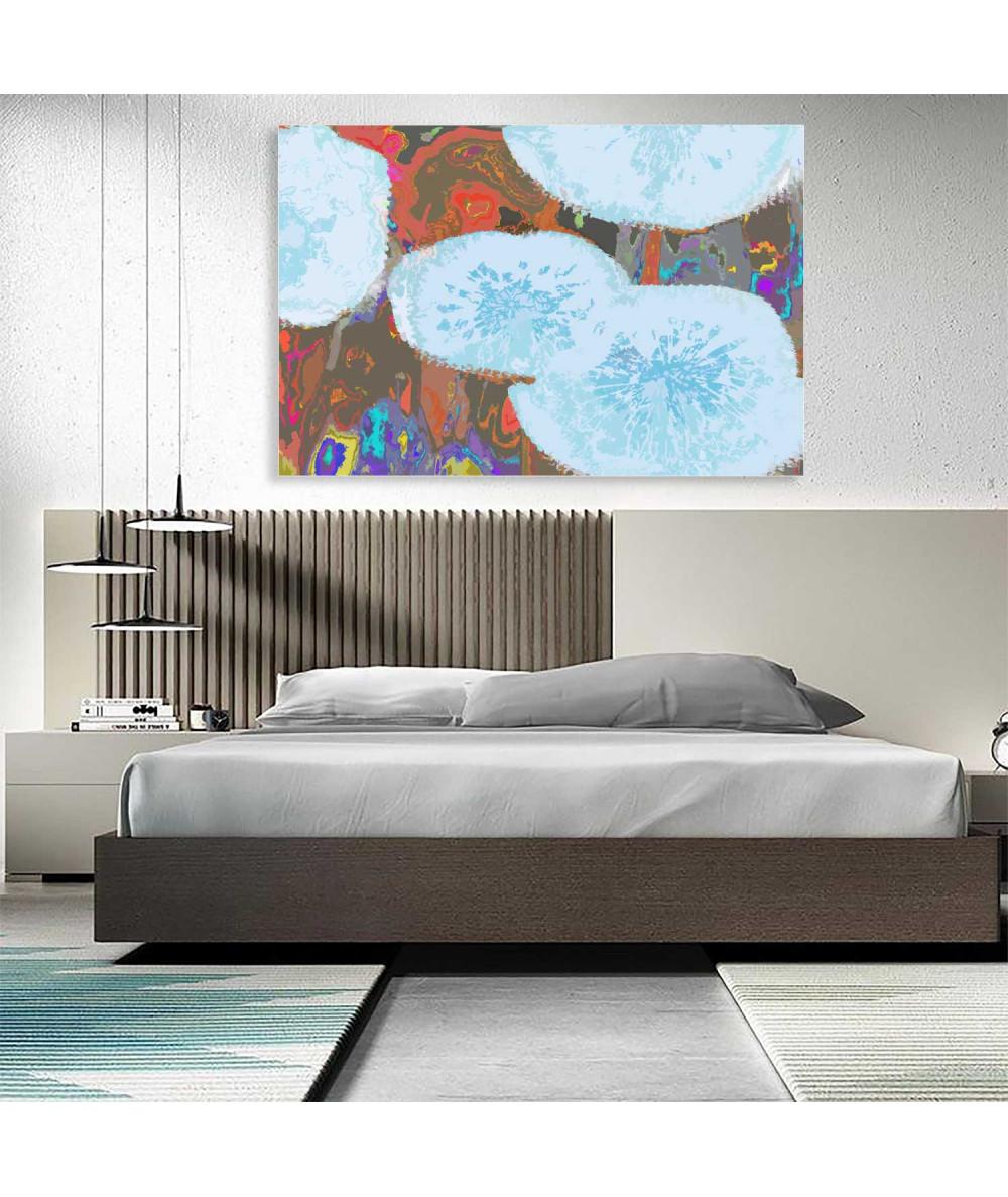 Obrazy abstrakcyjne - Obraz niebieski abstrakcja Abstrakcja z dmuchawcami