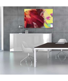 obrazy kwiaty Obraz plakat grafika na ścianę Tulipan w słońcu