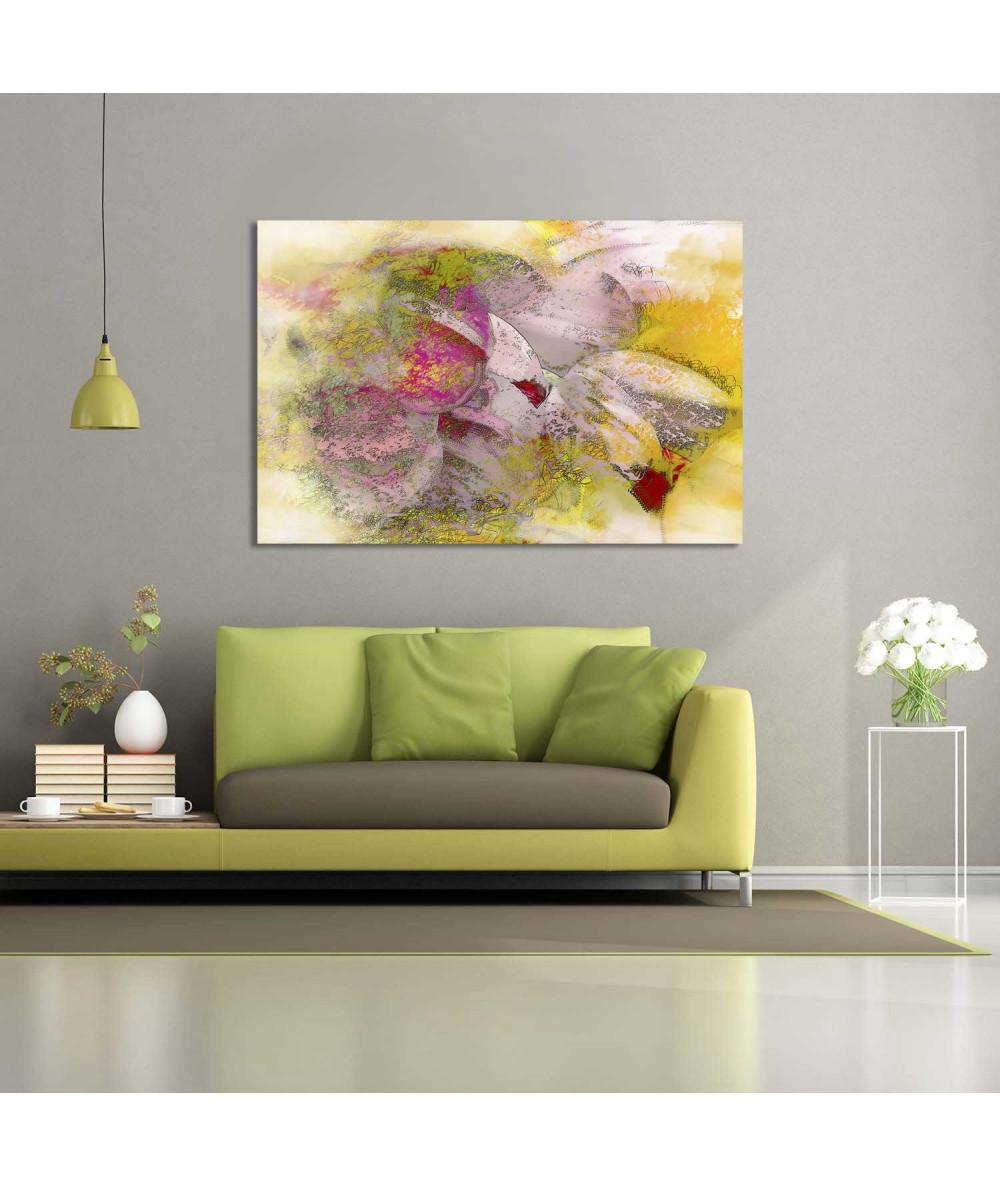 Nowoczesny obraz kwiaty Efemeryczne tulipany