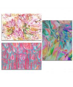 Obraz plakat Tryptyk kwiaty tulipanów (3-częściowy) długi