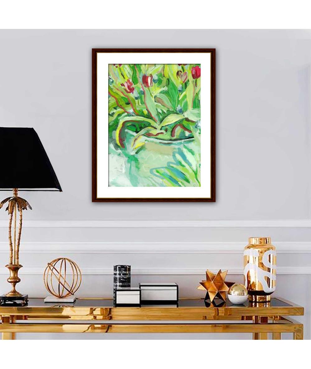 obrazy kwiaty Obraz Tulipany w dzbanie (1-częściowy) pionowy